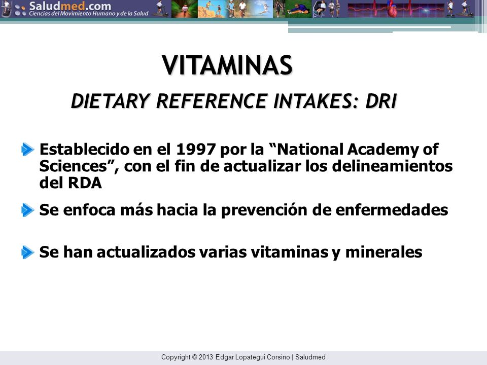 DIETARY REFERENCE INTAKES: DRI