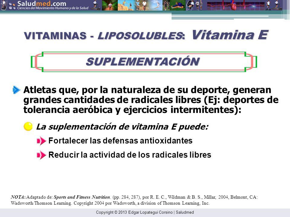 VITAMINAS - LIPOSOLUBLES: Vitamina E