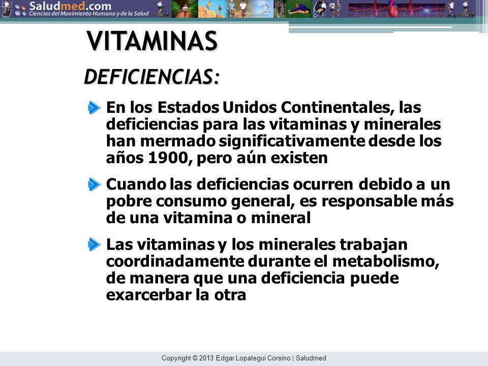 VITAMINAS DEFICIENCIAS: