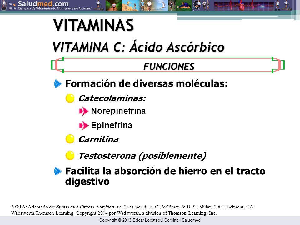 VITAMINAS VITAMINA C: Ácido Ascórbico FUNCIONES