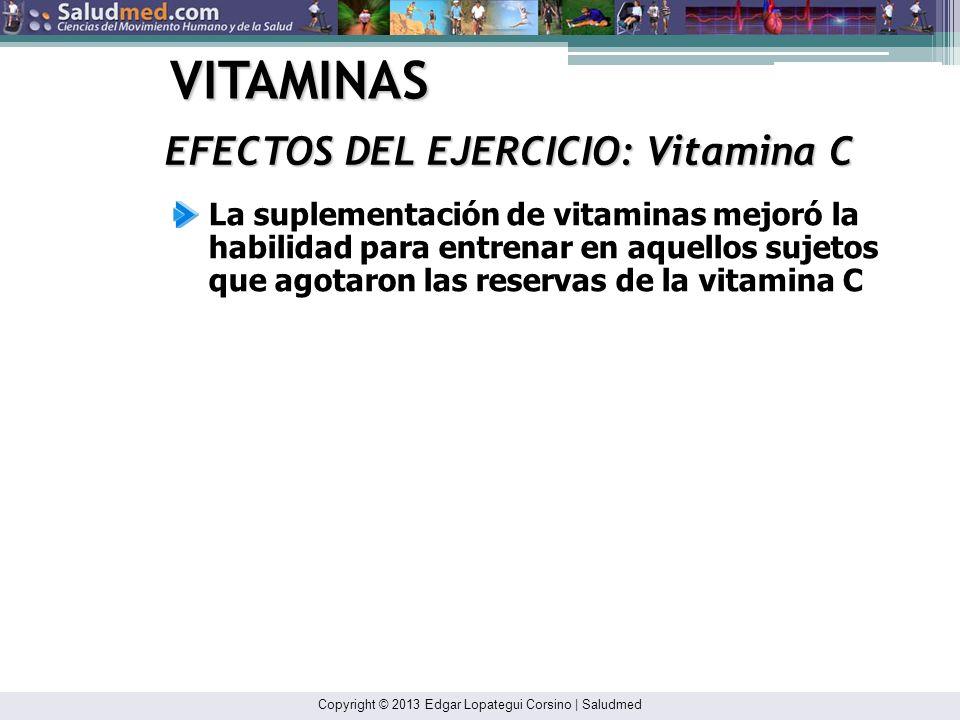 VITAMINAS EFECTOS DEL EJERCICIO: Vitamina C