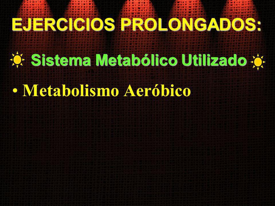 EJERCICIOS PROLONGADOS: Sistema Metabólico Utilizado