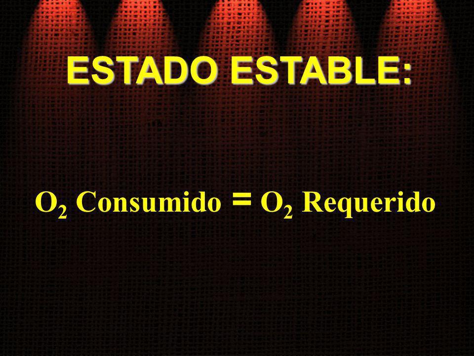 O2 Consumido = O2 Requerido