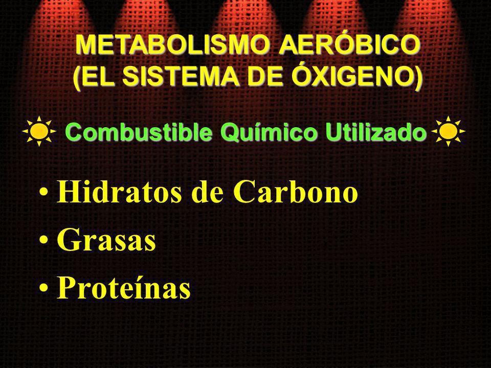 (EL SISTEMA DE ÓXIGENO) Combustible Químico Utilizado