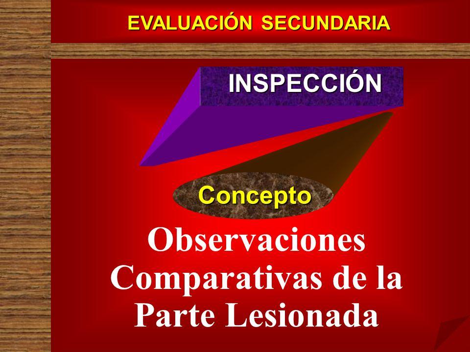 EVALUACIÓN SECUNDARIA Observaciones Comparativas de la Parte Lesionada