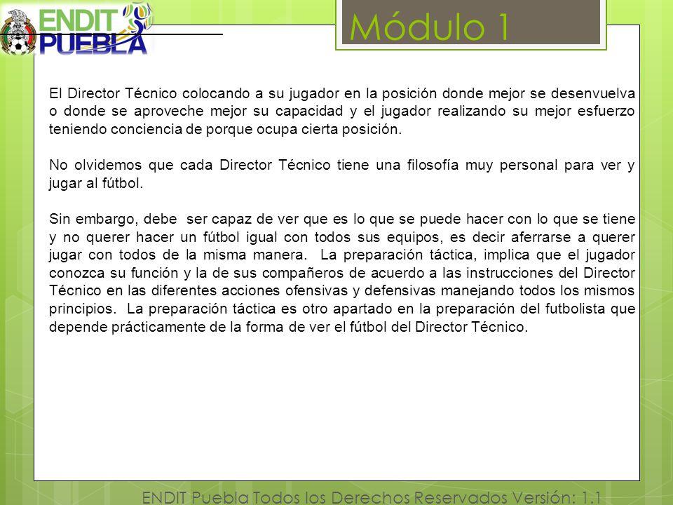 Módulo 1 ENDIT Puebla Todos los Derechos Reservados Versión: 1.1