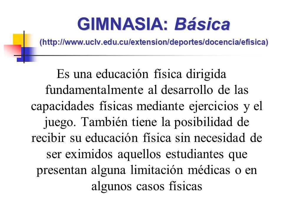 GIMNASIA: Básica (http://www. uclv. edu
