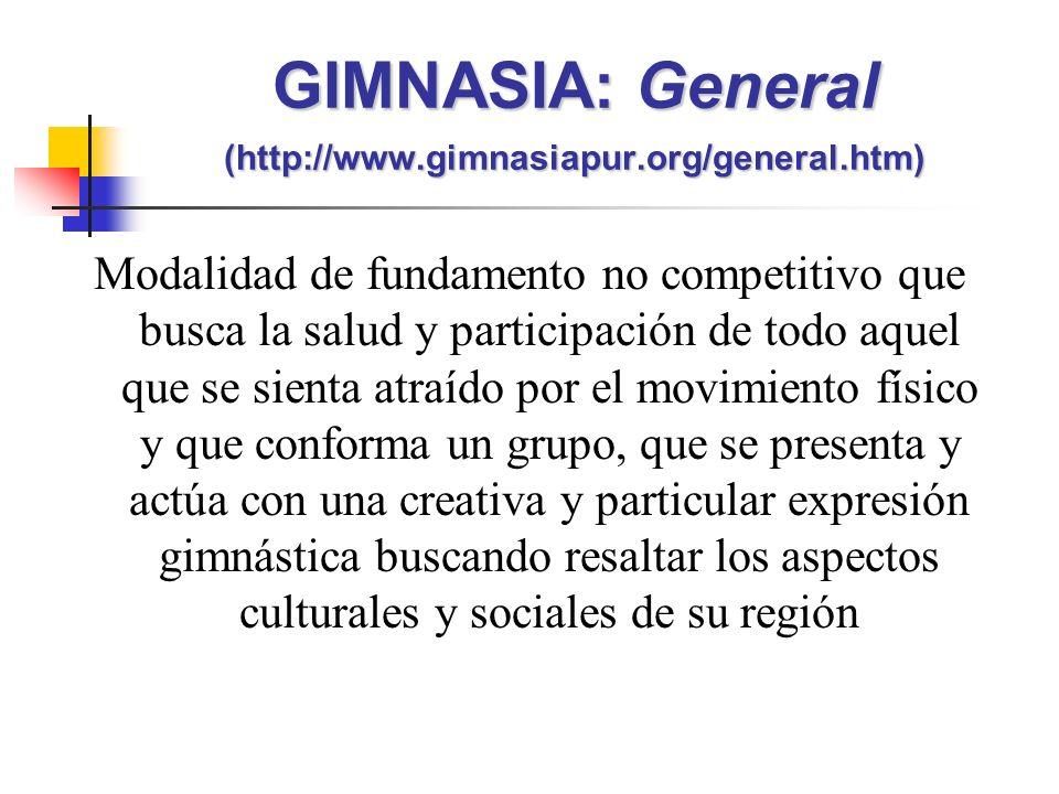 GIMNASIA: General (http://www.gimnasiapur.org/general.htm)
