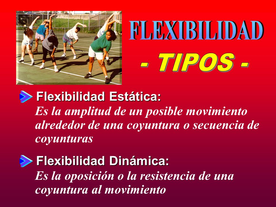 FLEXIBILIDAD - TIPOS - Flexibilidad Estática: