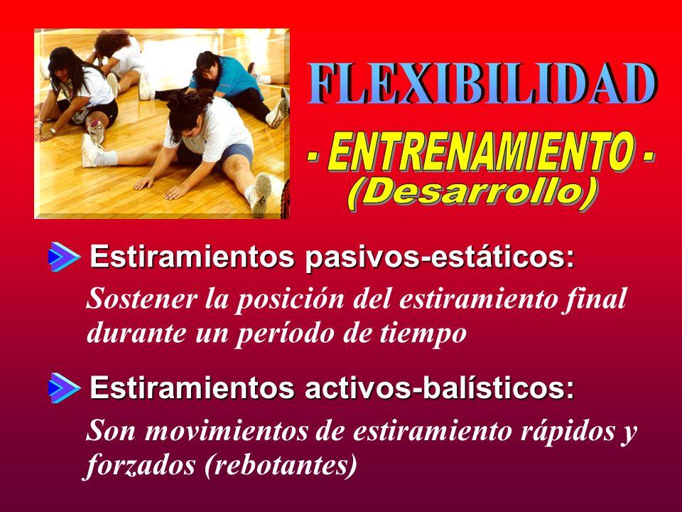 FLEXIBILIDAD - ENTRENAMIENTO - (Desarrollo)