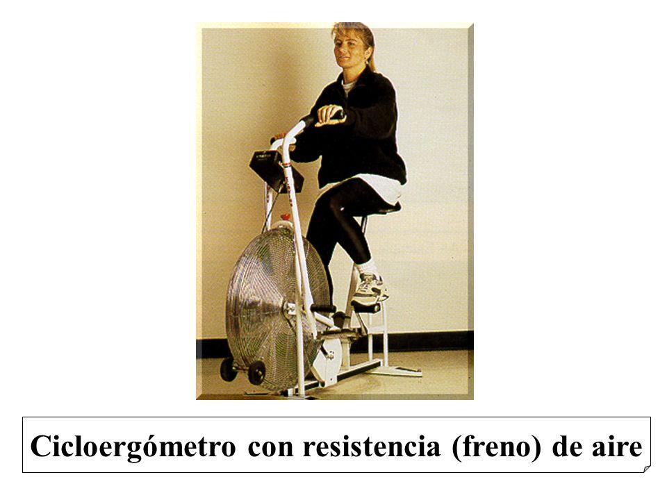 Cicloergómetro con resistencia (freno) de aire