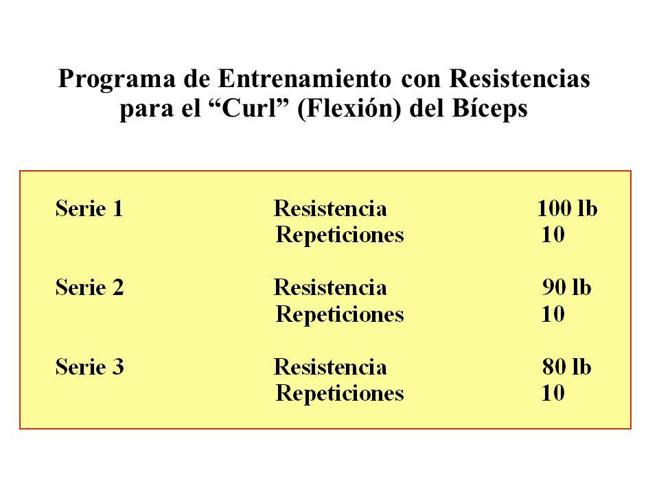 Programa de Entrenamiento con Resistencias para el Curl (Flexión) del Bíceps