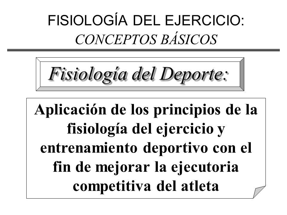 FISIOLOGÍA DEL EJERCICIO: CONCEPTOS BÁSICOS