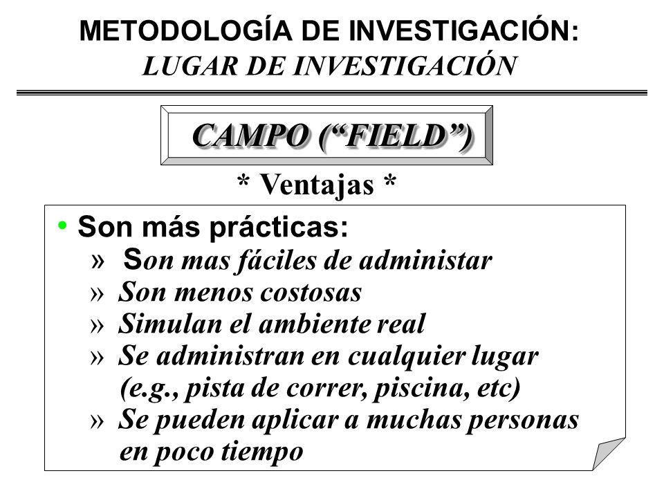 METODOLOGÍA DE INVESTIGACIÓN: LUGAR DE INVESTIGACIÓN
