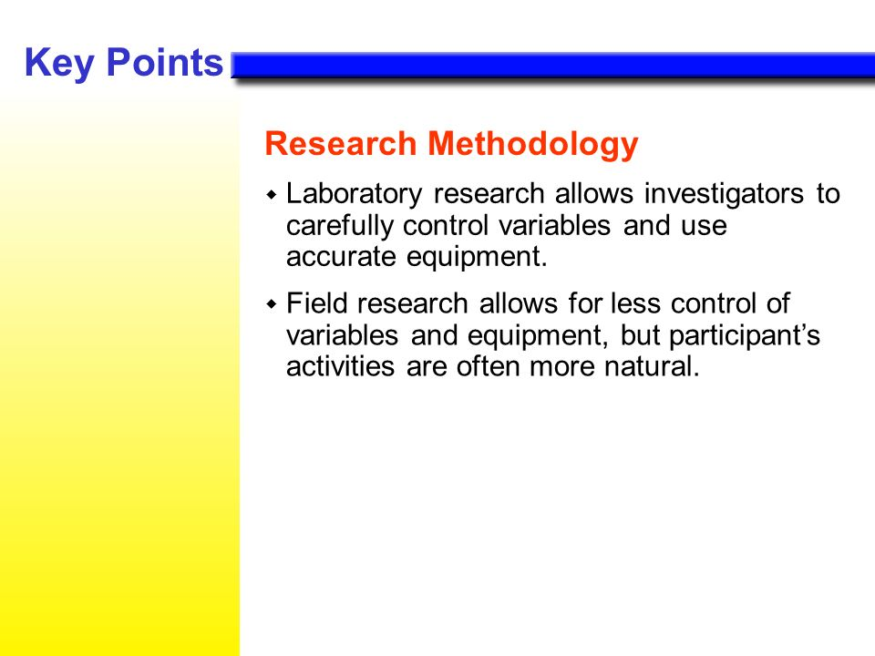 Key Points Research Methodology