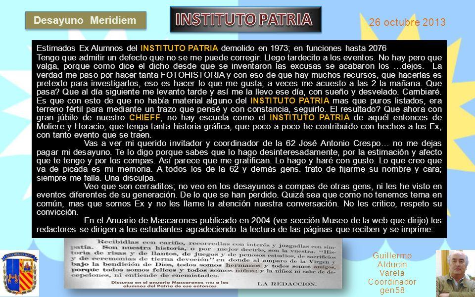 Guillermo Alducin Varela Coordinador gen58