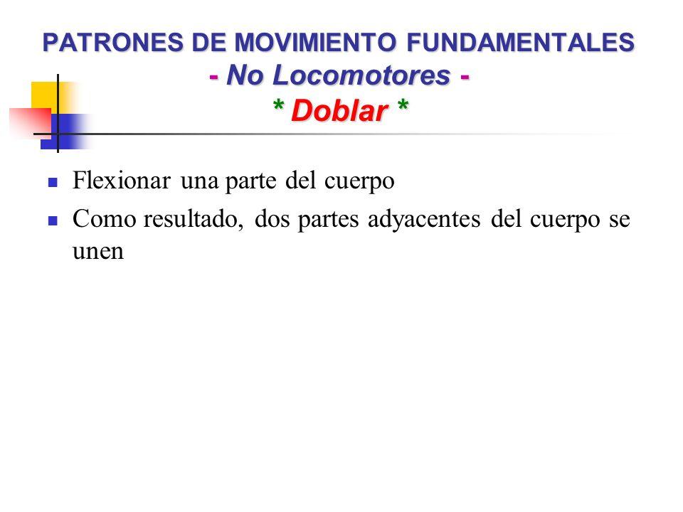 PATRONES DE MOVIMIENTO FUNDAMENTALES - No Locomotores - * Doblar *