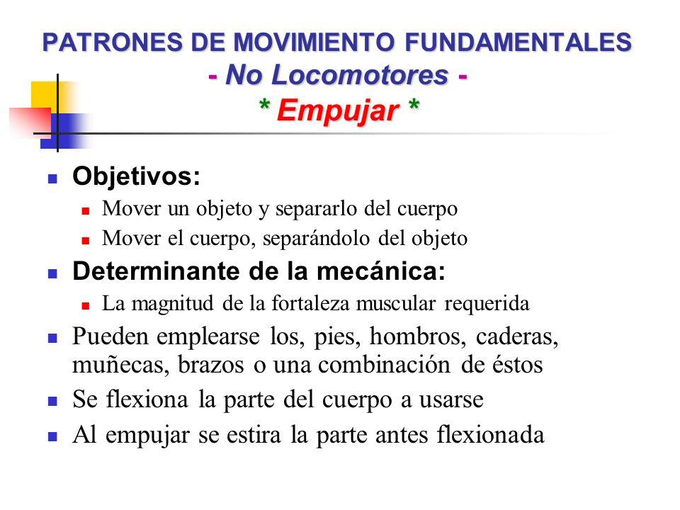 PATRONES DE MOVIMIENTO FUNDAMENTALES - No Locomotores - * Empujar *