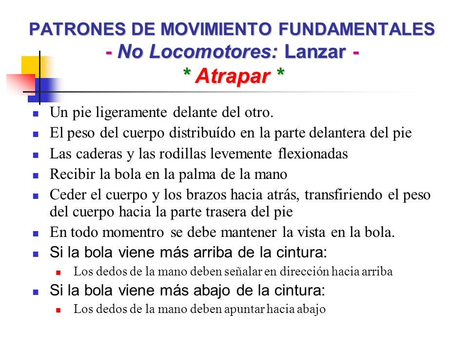 PATRONES DE MOVIMIENTO FUNDAMENTALES - No Locomotores: Lanzar -
