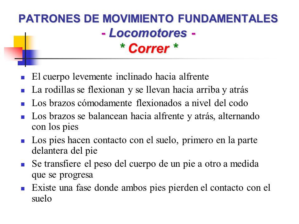 PATRONES DE MOVIMIENTO FUNDAMENTALES - Locomotores - * Correr *
