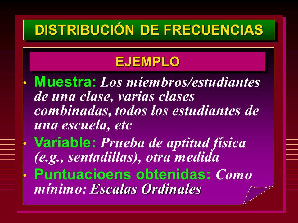 DISTRIBUCIÓN DE FRECUENCIAS