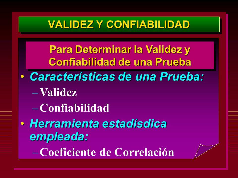 VALIDEZ Y CONFIABILIDAD