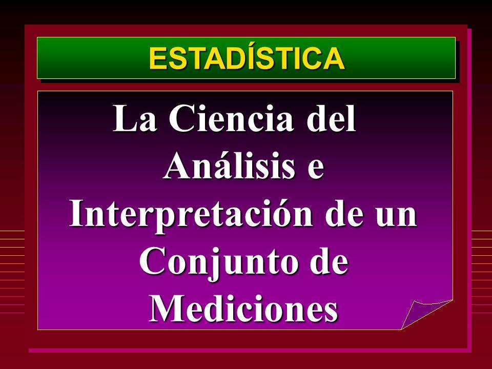 La Ciencia del Análisis e Interpretación de un Conjunto de Mediciones