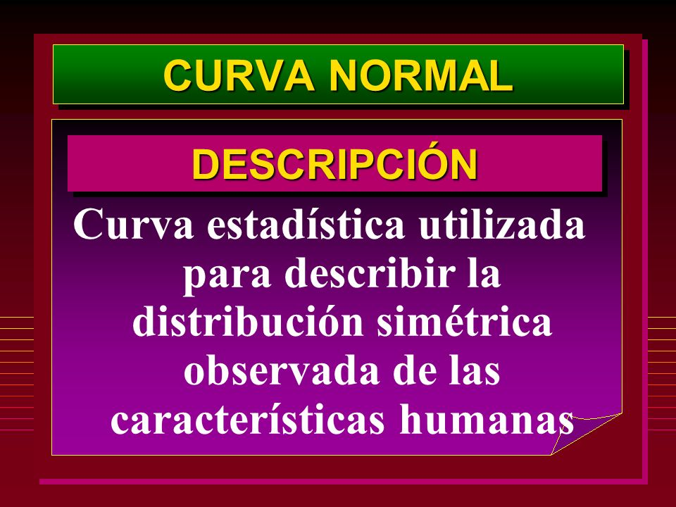 CURVA NORMAL DESCRIPCIÓN.