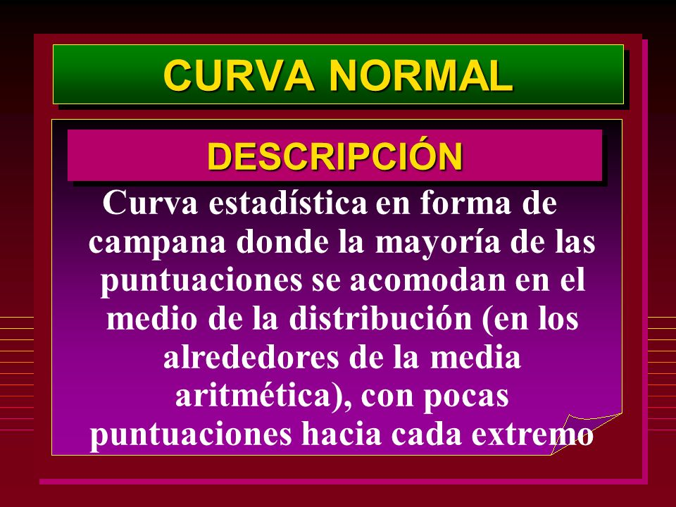 CURVA NORMAL DESCRIPCIÓN