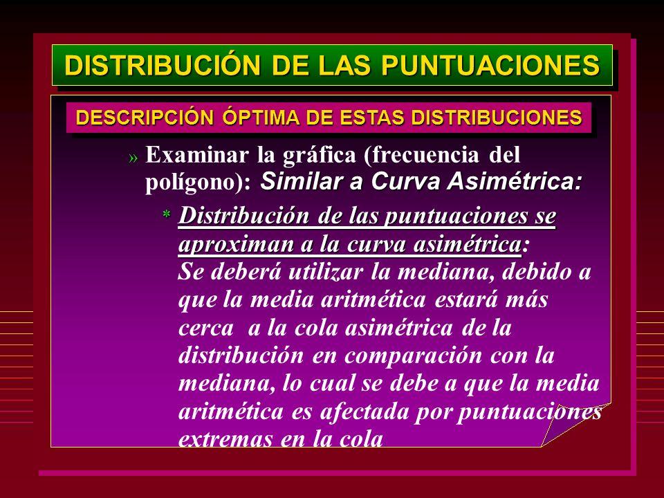 DISTRIBUCIÓN DE LAS PUNTUACIONES