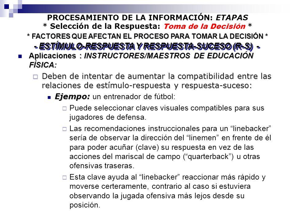 - ESTÍMULO-RESPUESTA Y RESPUESTA-SUCESO (R-S) -
