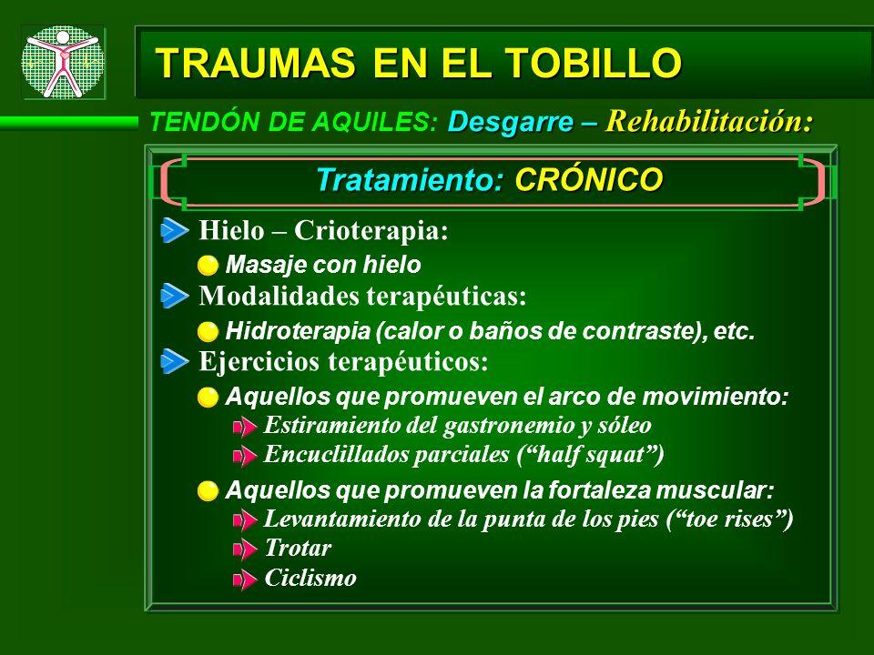 TRAUMAS EN EL TOBILLO Tratamiento: CRÓNICO Hielo – Crioterapia: