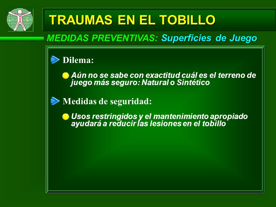 TRAUMAS EN EL TOBILLO MEDIDAS PREVENTIVAS: Superficies de Juego