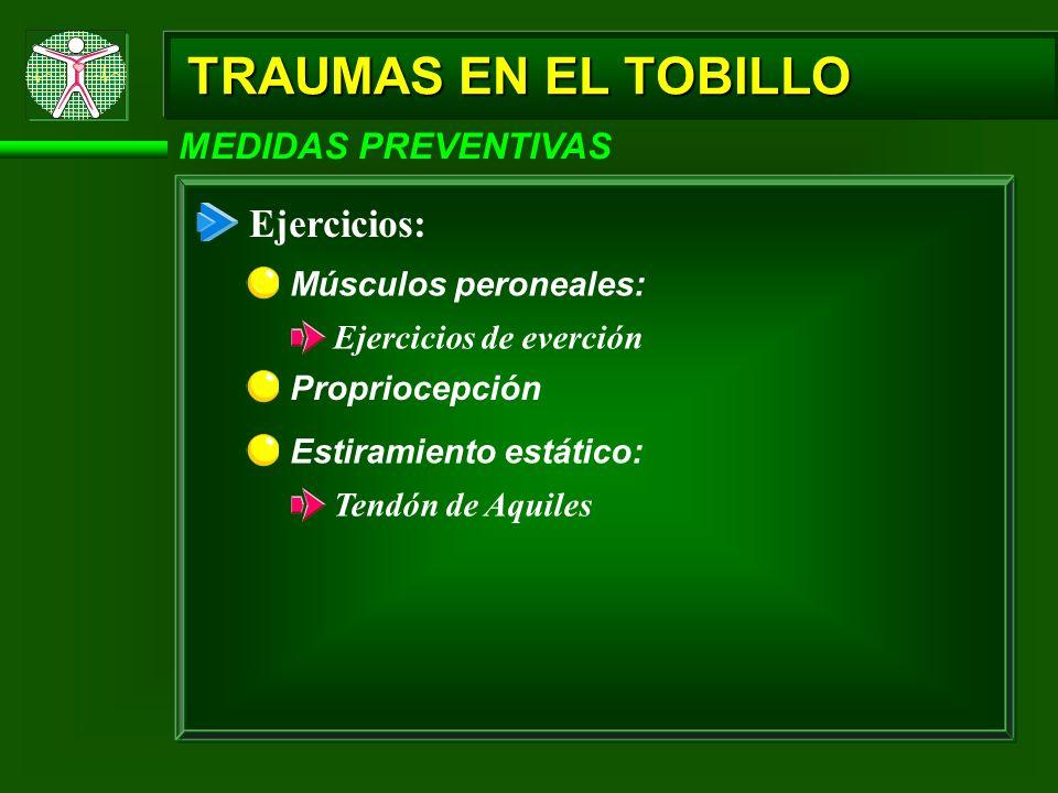 TRAUMAS EN EL TOBILLO Ejercicios: MEDIDAS PREVENTIVAS