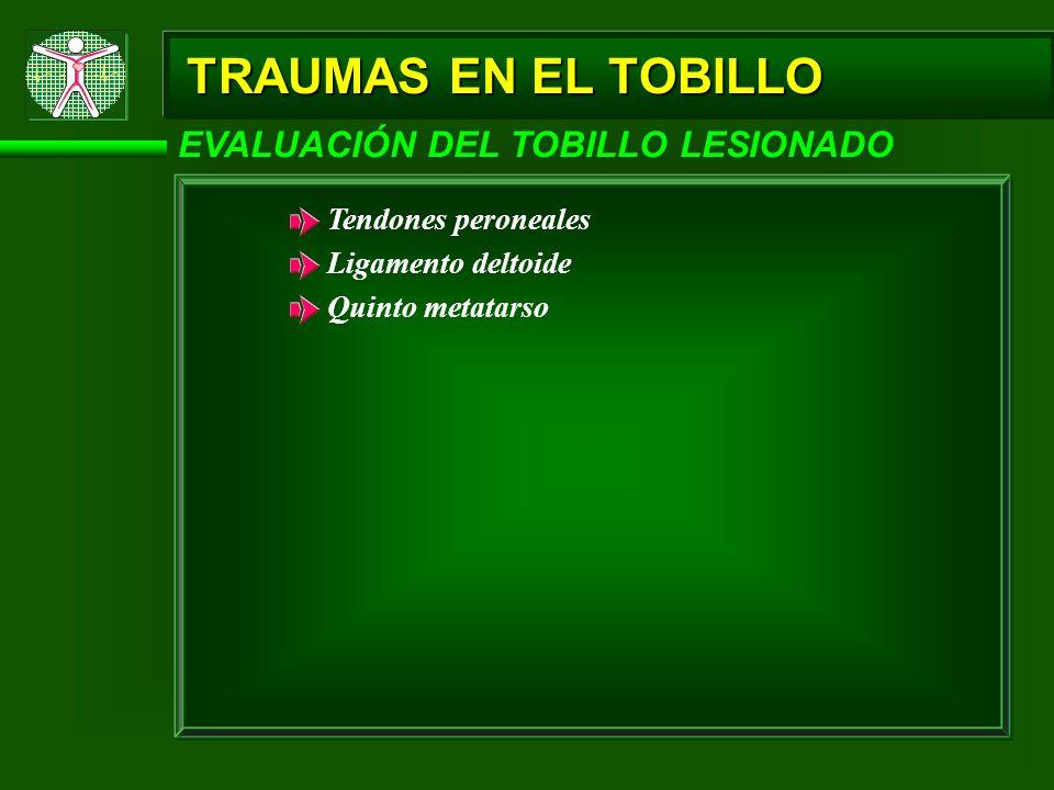 TRAUMAS EN EL TOBILLO EVALUACIÓN DEL TOBILLO LESIONADO