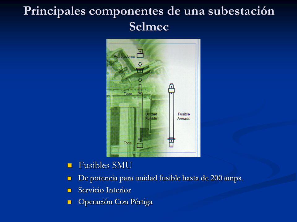 Principales componentes de una subestación Selmec