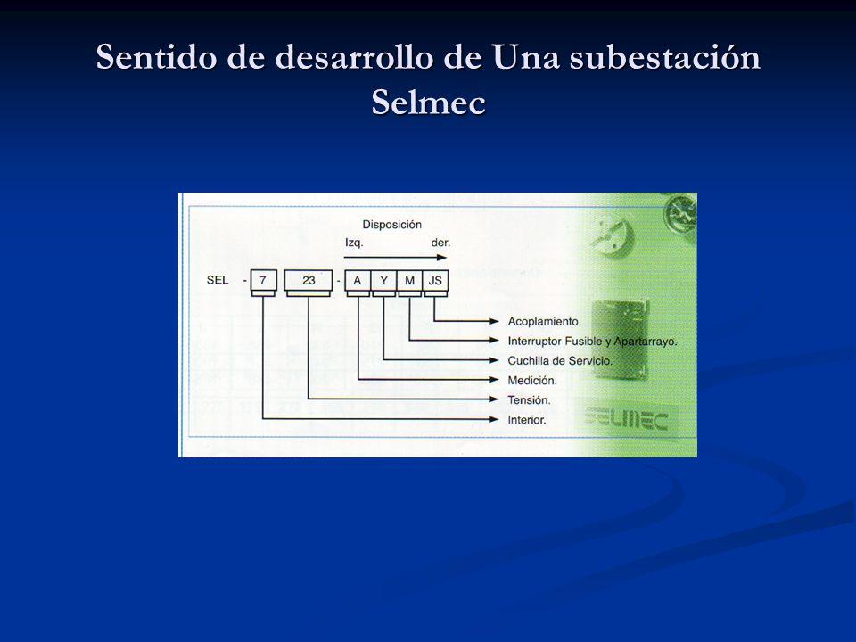 Sentido de desarrollo de Una subestación Selmec