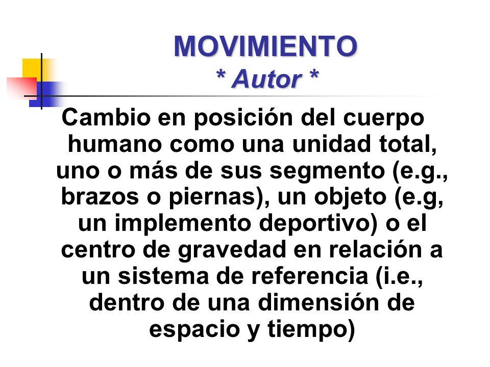 MOVIMIENTO * Autor *
