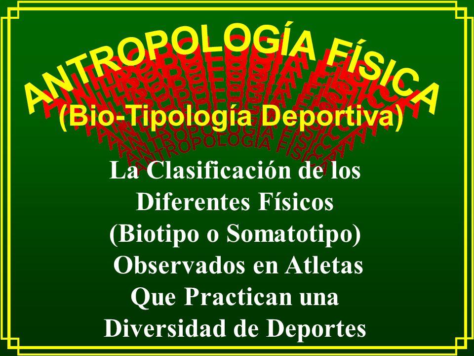 (Bio-Tipología Deportiva)