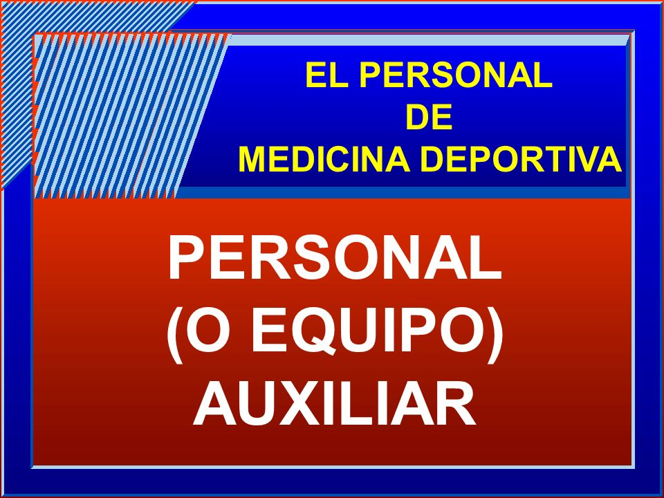 PERSONAL (O EQUIPO) AUXILIAR
