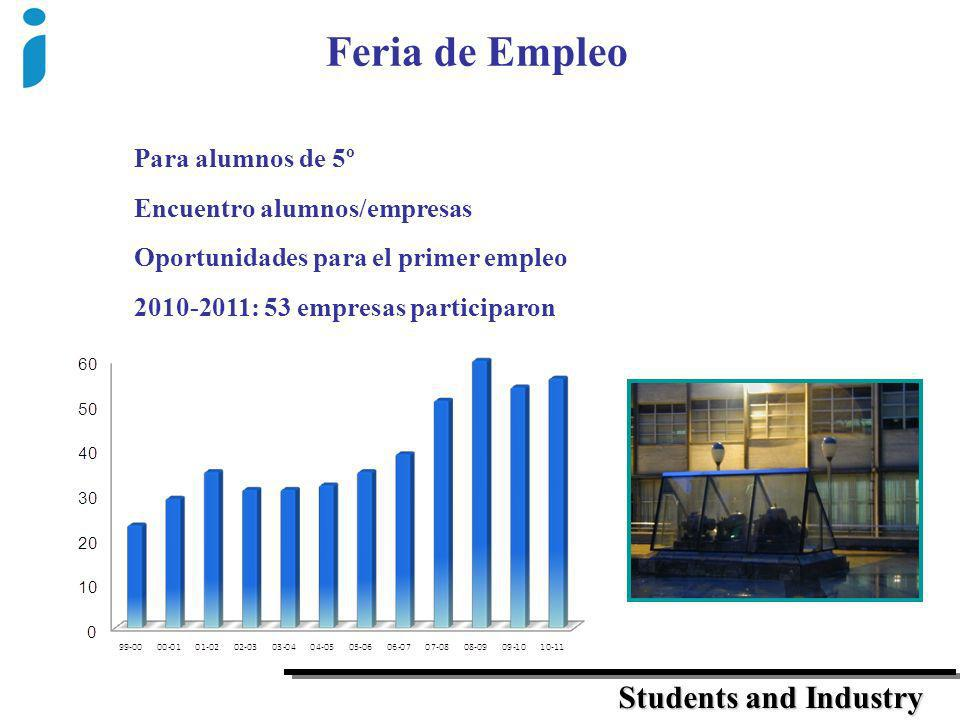 Feria de Empleo Students and Industry Para alumnos de 5º
