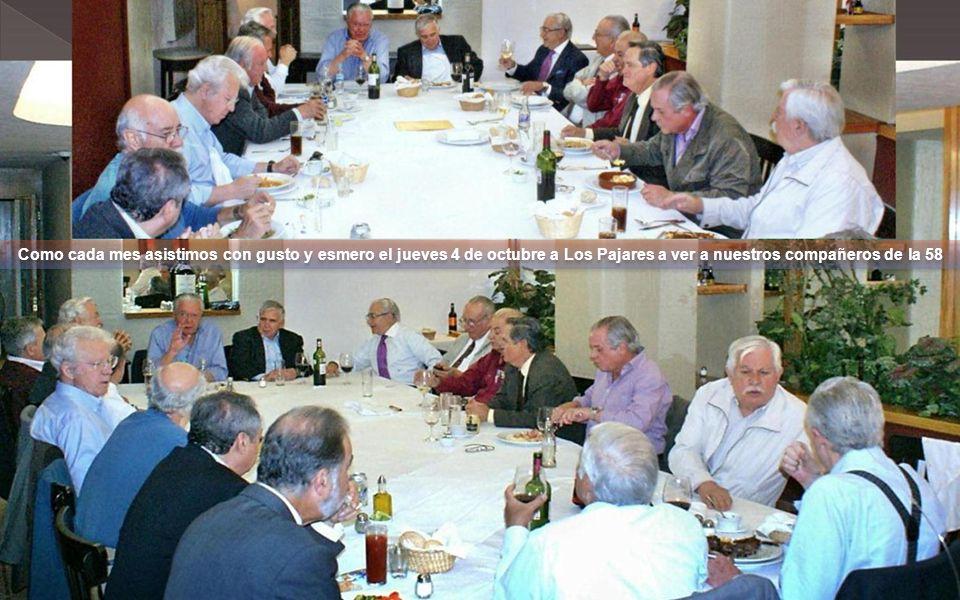 Como cada mes asistimos con gusto y esmero el jueves 4 de octubre a Los Pajares a ver a nuestros compañeros de la 58