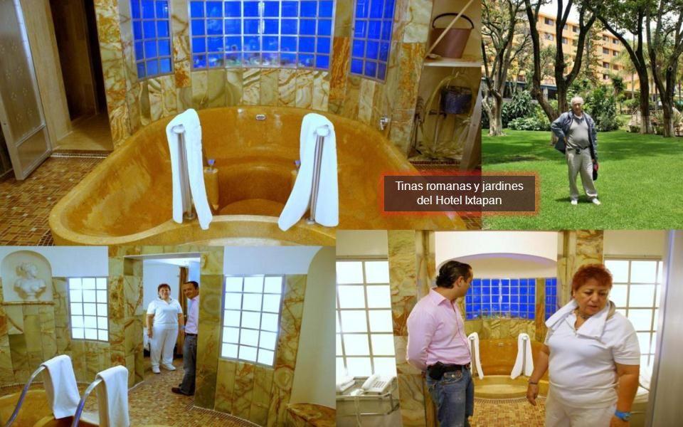 Tinas romanas y jardines del Hotel Ixtapan