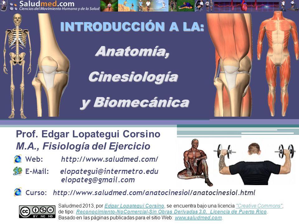 INTRODUCCIÓN A LA: Anatomía, Cinesiología y Biomecánica