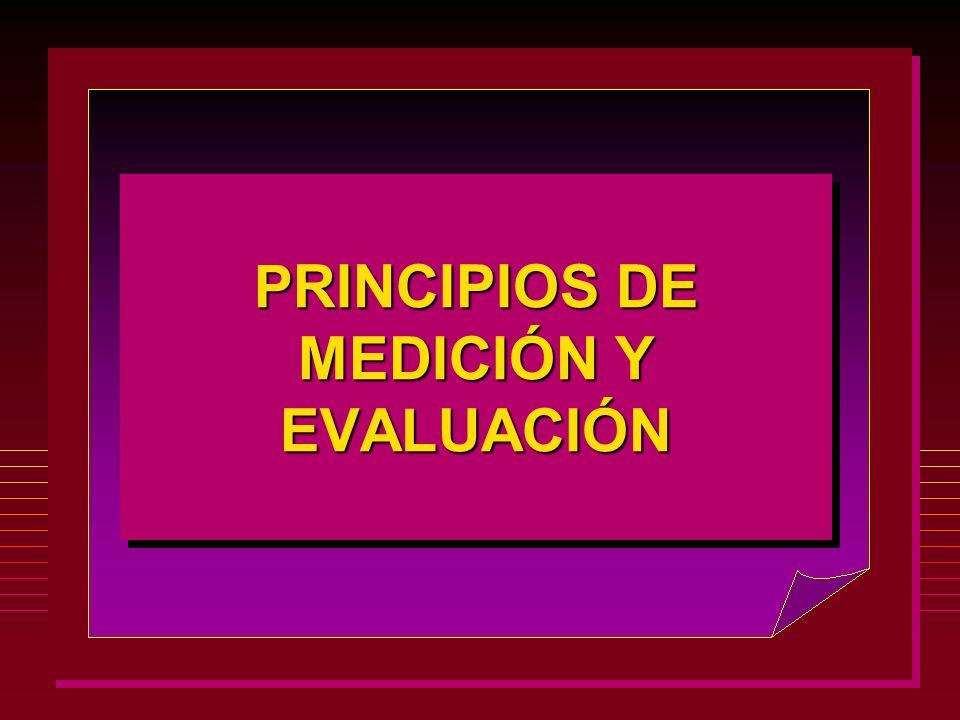 PRINCIPIOS DE MEDICIÓN Y EVALUACIÓN