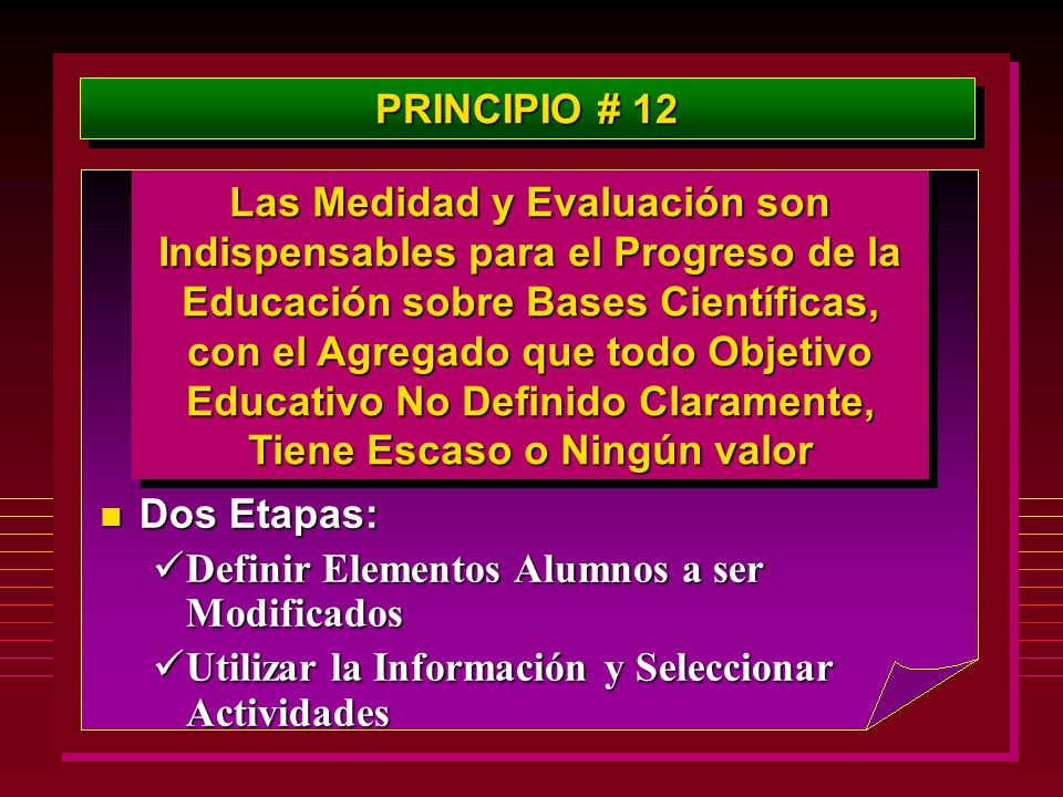 PRINCIPIO # 12
