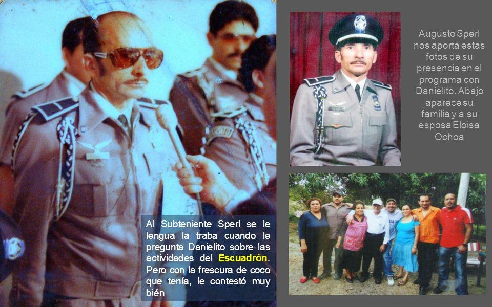 Augusto Sperl nos aporta estas fotos de su presencia en el programa con Danielito. Abajo aparece su familia y a su esposa Eloisa Ochoa