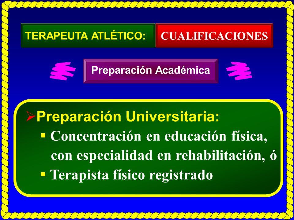 Preparación Universitaria: Concentración en educación física,
