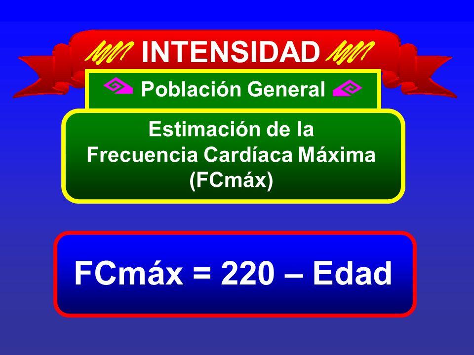 Estimación de la Frecuencia Cardíaca Máxima (FCmáx)