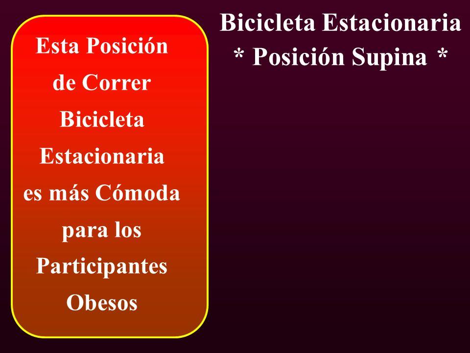 Bicicleta Estacionaria * Posición Supina *